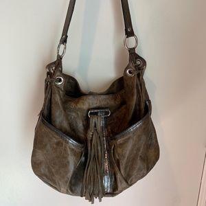 Laudi Vidni distressed Hobo shoulder bag